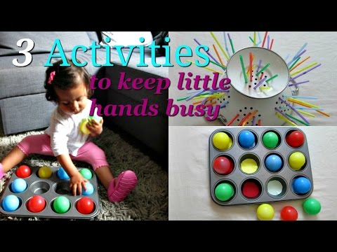 3 Activities to  keep  Babies busy! Learning at home
