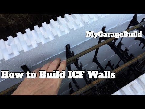 How to DIY ICF mono pour concrete foundation footings and walls forms