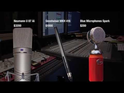 Microphone Voice Over Shootout - Blue Spark vs. Neumann U87 ai vs. Sennheiser MKH 416