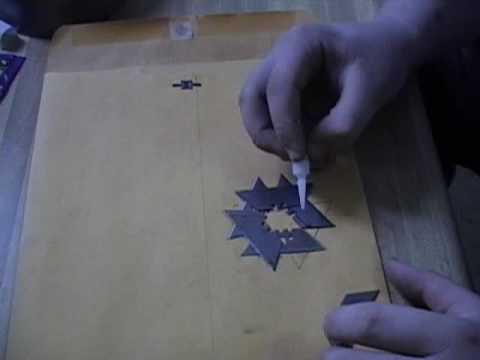 How to make a cheap ninja shuriken out of razor blades