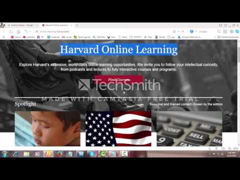 Harvard Online Learning  courses hd video
