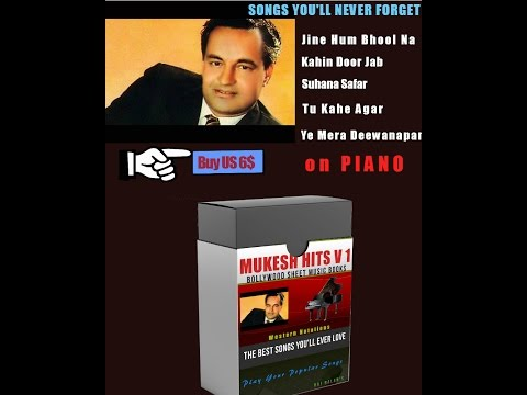 PIANO NOTES SHEET MUSIC FOR MUKESH SONGS V 1