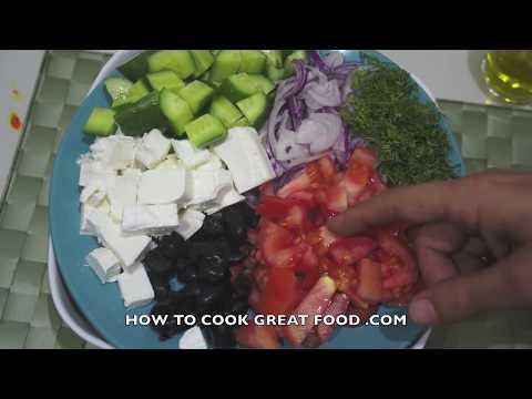 Greek Pasta Salad Recipe - Feta Cheese Olives