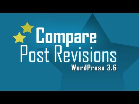 Compare Post Revision versions in WordPress 3.6