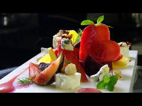 Watermelon Salad, Beets, Raspberry Vinaigrette / Sous-Vide Tech – Bruno Albouze – THE REAL DEAL