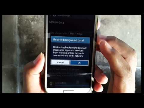 Samsung Galaxy S4 : How to disable background data all application