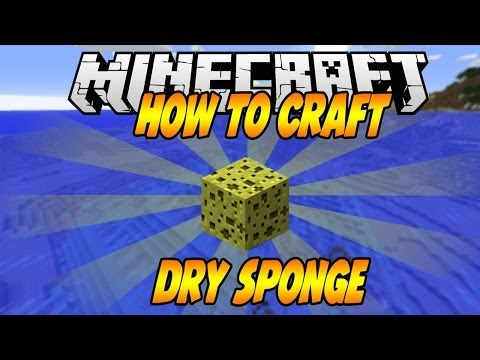 How To Make Dry Sponge in Minecraft