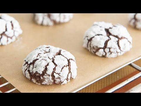 CHOCOLATE CRINKLE COOKIES - Christmas Cookie