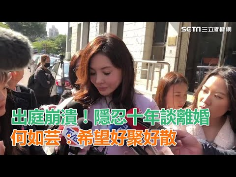 出庭崩潰!隱忍十年談離婚 何如芸:希望好聚好散 三立新聞網SETN.com