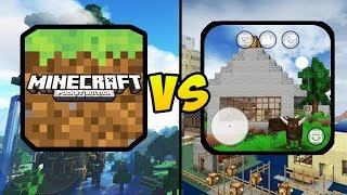 """MINECRAFT POCKET EDITION VS MINI BLOCK CRAFT 3D"" (Minecraft PE, Mobile Games, iOS, Android)"