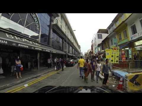 Driving through Little India in Singapore on a Sunday afternoon...