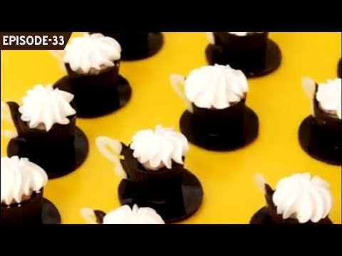 Learn to make cute chocolate mini tea cups filled with coffee mousse and cream