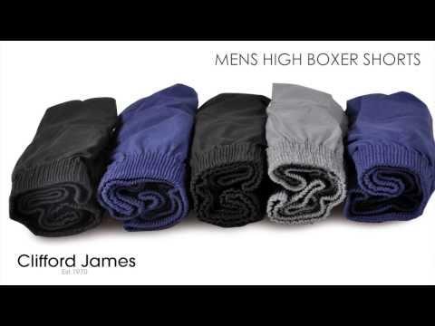 Men's High Boxer Shorts - 5 packs