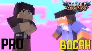 PRO VS BOCAH MOBA PLAYER - Animasi minecraft