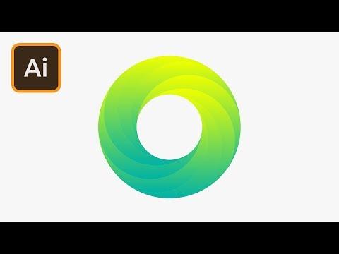 Create a Swirling Gradient Logo in Illustrator