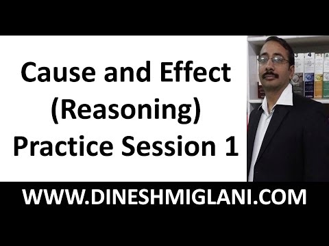 Best Tricks for Cause and Effect ( Reasoning) Practice Problems  Session 1