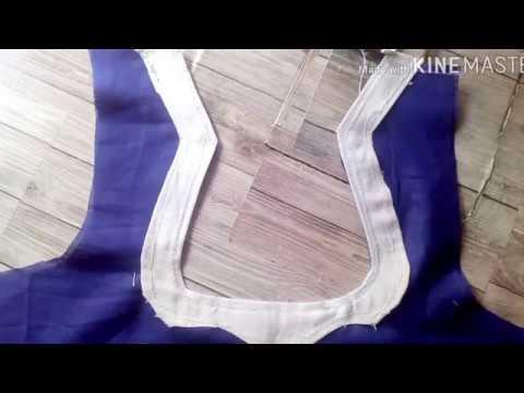 neck design cutting and stitching in telugu, నెక్ డిజైన్ కట్ చేసి కుట్టడం ఎలా
