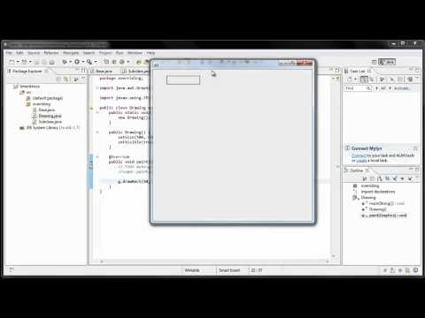 Java Programming: 16 - Overriding methods, drawing on a frame