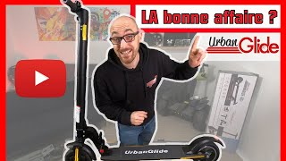 Je test UrbanGlide 82 + trottinette electrique pas chere - 200 € auchan darty fnac intersport