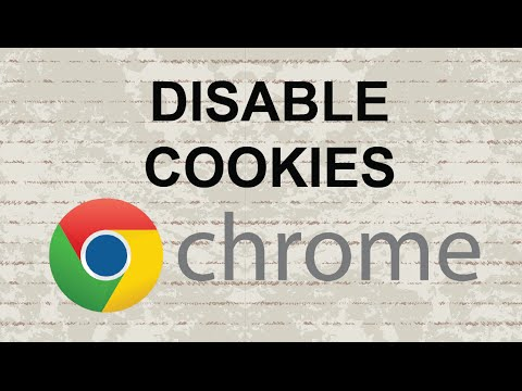 How to disable cookies in Chrome