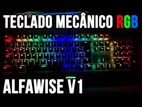 Unboxing teclado gamer mecânico Alfawise V1 - GearBest - Teclado gamer barato