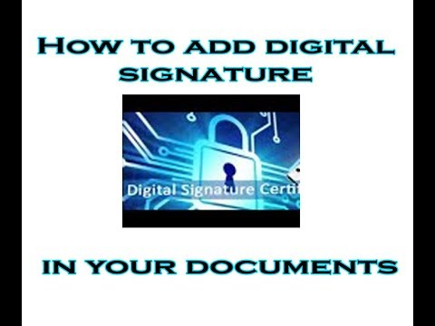 How to add digital signature in your documents