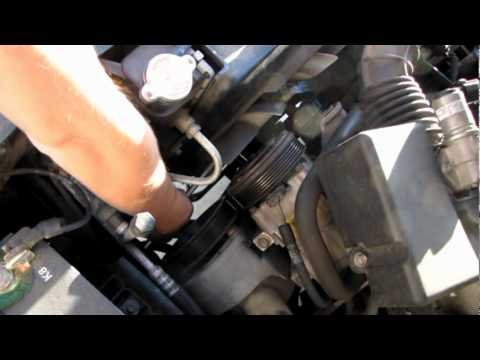 98 Ford Ranger Idler Pulley and Tension Pulley Replacement 3 liter V-6