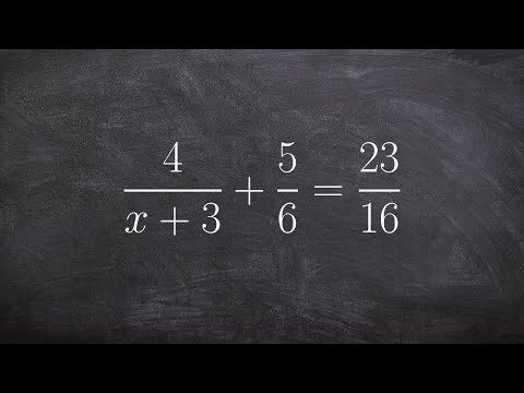 Learn to solve an equation with rational expressions