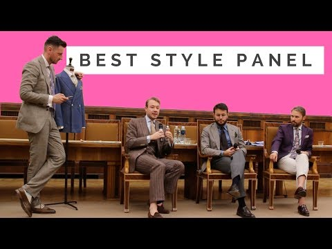 Style Panel. Warszawa pod Krawatem Fashion Discussion. Fabio Attanasio. Aleks Cvetkovic. Dan Sobis.