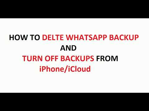 How To Delete WhatsApp Backup From iPhone / iCloud (With audio)