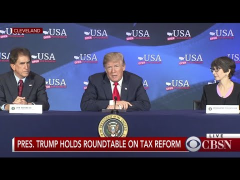 At Ohio tax event, Trump says U.S. may need to