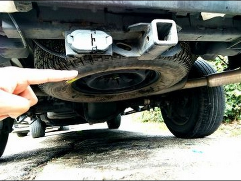 How To Remove The SPARE TIRE On Any Truck -(VERY EASY)
