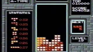 NES Tetris - 999,999 (Level 19 Maxout)