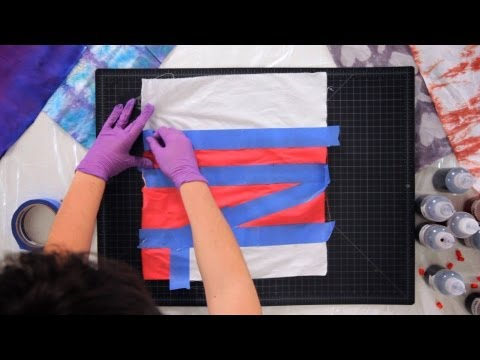 How to Create Tie Dye Patterns Using Tape | Tie Dyeing