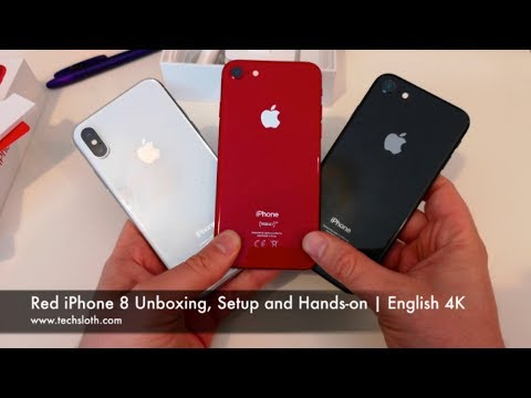 Red iPhone 8 Unboxing, Setup and Hands on | English 4K