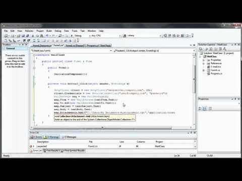 Create your own Email Client   C# C Sharp Visual Studio 2008