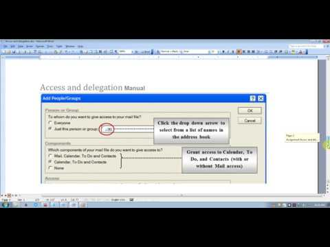 Access and delegation in lotus notes 9