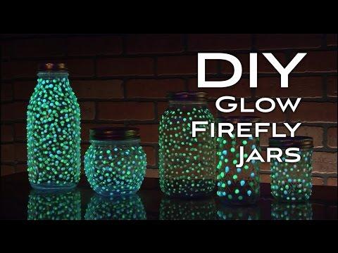 DIY Glow Firefly Jars