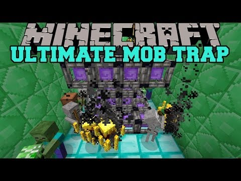 Minecraft: ULTIMATE MOB TRAP MOD (CREATE SPAWNERS FOR MOBS!) Mod Showcase