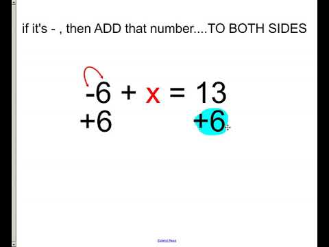 1-step equations - using addition and subtraction only