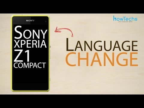 Sony Xperia Z1 Compact - How to change language