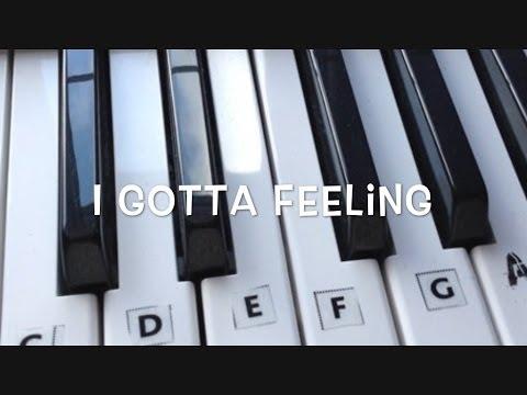 I Gotta Feeling - Keyboard Tutorial for Beginners (Chords Intro)