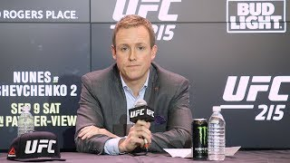UFC 215: UFC Exec David Shaw Post-Fight Press Conference - MMA Fighting
