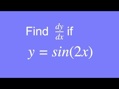 How to differentiate y = sin(2x) using the Chain Rule
