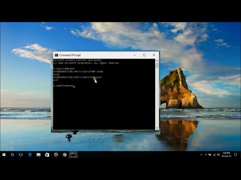 how to activate linux / unix bash terminal in windows
