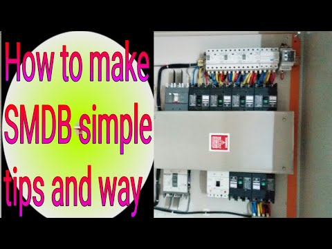 How to make Sub main distribution board (SMDB) simple way and ideas/new explanation 2017