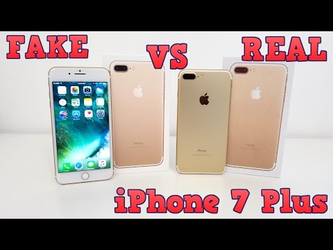 FAKE VS REAL iPHONE 7 Plus - Buyers Beware 1:1 Clone