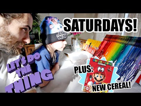 Mario Cereal Review And Fun With Trash - Saturdays Are For The Boys!