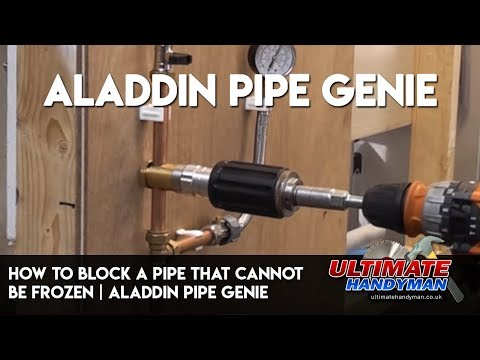 How to block a pipe that cannot be frozen | Aladdin Pipe Genie