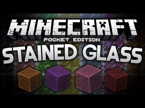 STAINED GLASS IN MCPE!?!?! - Colored Glass Mod - Minecraft Pocket Edition